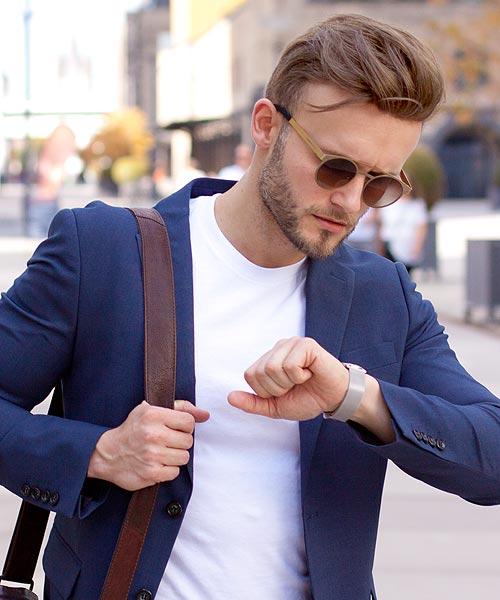 Style für männer mit glatze